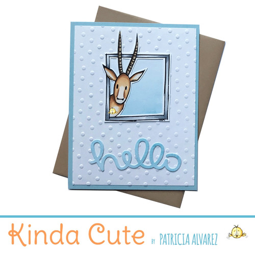 hello card with an antelope