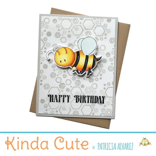 Birthday card with a little bee. h54