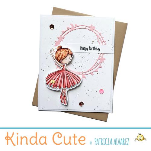 Birthday card for ballerinas. h55