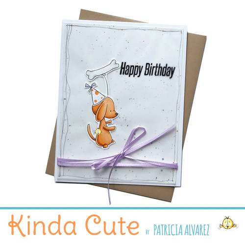 Happy Birthday Card With A Dog Bone Balloon H25