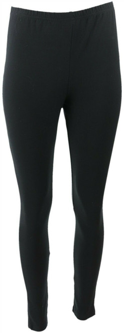 Women with Control Fit Pull-On Knit Leggings Elastic Black Regular L NEW A235949