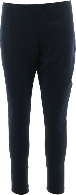 Women with Control Pull-On Elastic Waist Style Knit Leggings Navy S NEW A235949