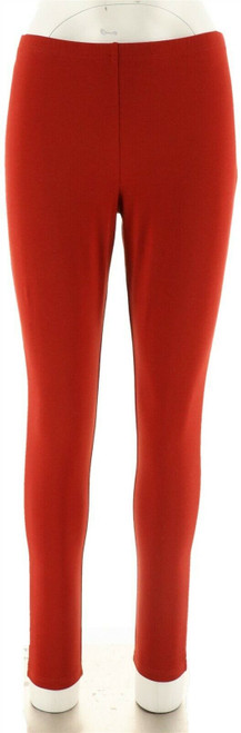 Women with Control Stylish Fit Pull-on Knit Leggings Deep Spice S NEW A235949