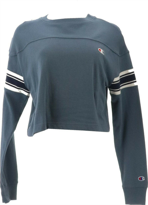 Champion Womens Fitness Activewear Pullover Top WL254 S Dusted Blue NEW