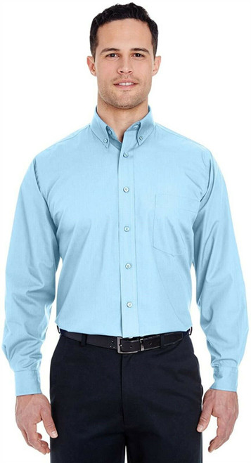 UltraClub Easy-Care Broadcloth (8355) L LIGHT BLUE NEW