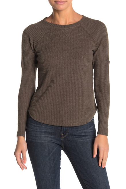 Sweet Romeo Cozy Thermal Pullover (Regular & Petite) SP Forest NEW