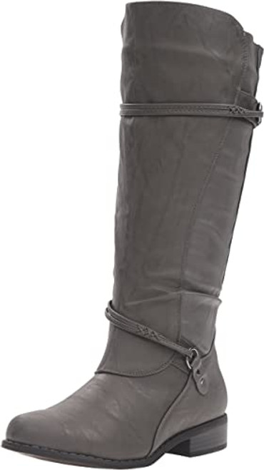 Brinley Co Women's Olive-Wc Riding Boot 8 Grey NEW
