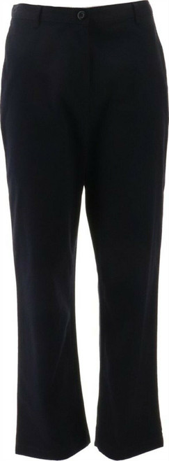 Lands' End Straight Fit Plain 7 Day Chino Pants Black 6X29 NEW 450677