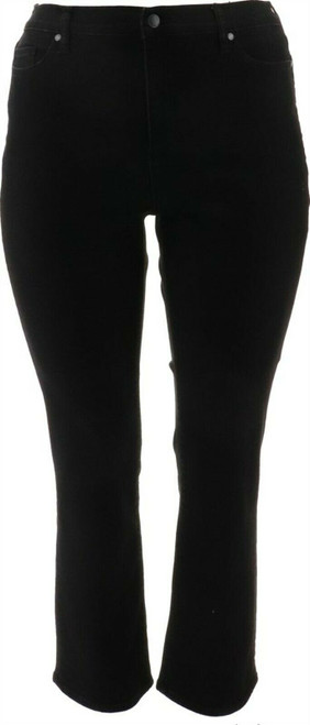 Lands' End WR F3 STRGHTLG JEAN BLACK Black 6X32 NEW 445674