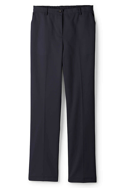 Lands' End 7 Day Elastic Back Comfort Waist Pants True Navy 16X28 NEW 066131