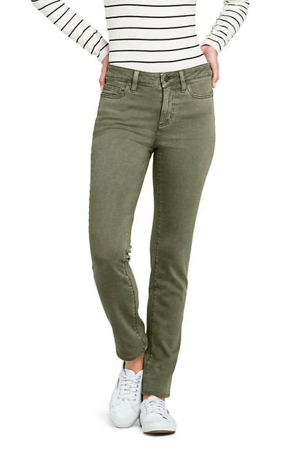 Lands' End Mid Rise Straight Leg Jeans Color Antique Spruce Green 16X30 NEW 502068