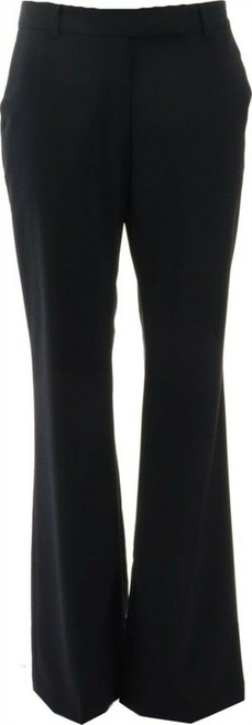 Lands' End Washable Wool Curvy Modern Pants True Navy 10X28 NEW 226546