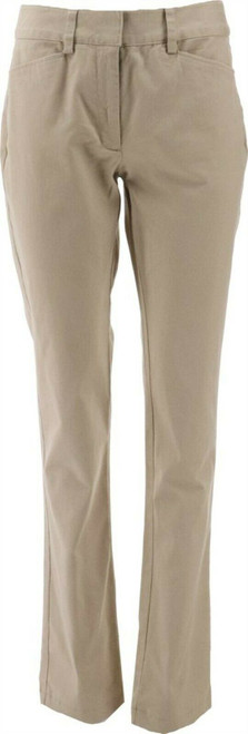 Lands' End Chino Mid Rise Straight Leg Pants Bright Rust 16X32 NEW 496796