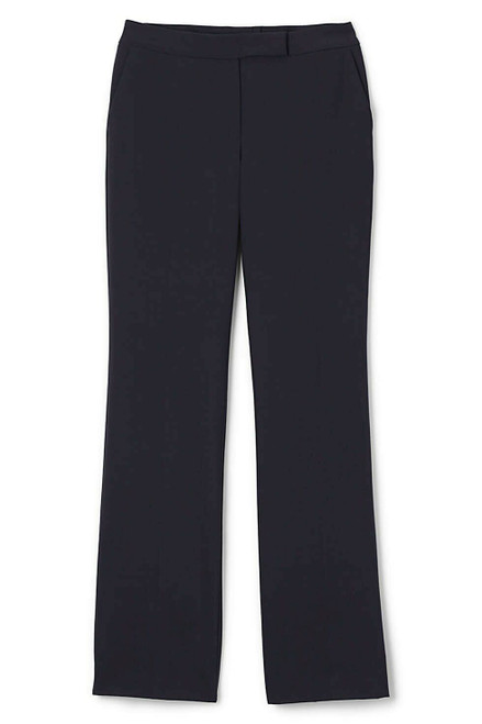 Lands' End Washable Wool Plain Comfort Trousers True Navy 16X34 NEW 226657