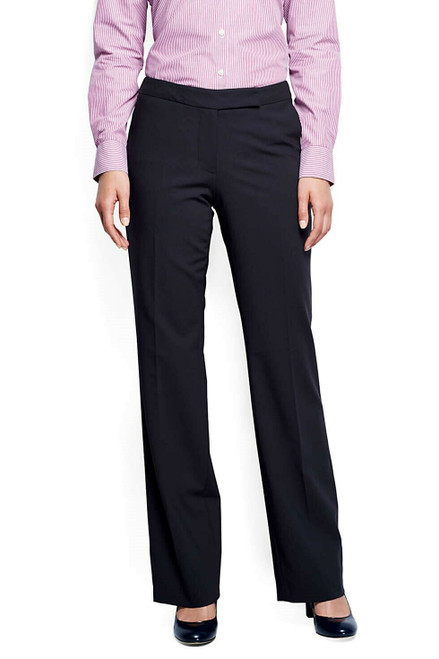 Lands' End Washable Wool Curvy Modern Pants True Navy 8X33 NEW 226546