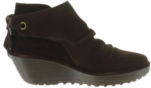 FLY London Suede Ankle Boots Tie Yebi Espresso 35/4.5-5 NEW A303718