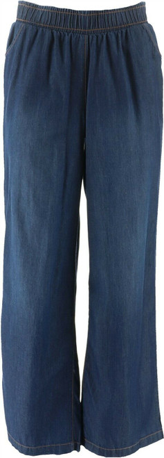 DG2 Diane Gilman SoftCell Denim Wide-Leg Pant Basic INDIGO XL NEW 698-804