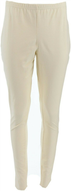 Women with Control Tall Fit Pull-On Knit Leggings Winter White M NEW A235955