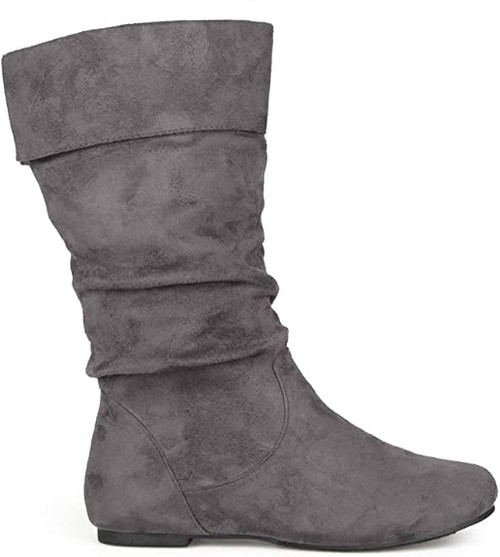 Brinley Co Women's Marden-01 Slouch Boot 7.5 Grey NEW