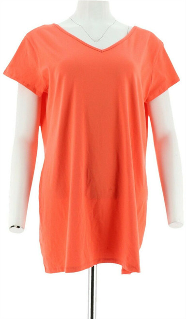 Women with Control Long Lean Reversible Neckline Top NEW A263911