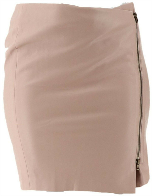 GILI Faux Leather Motorcycle Skirt A262049