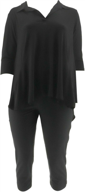Women with Control Crepe Jersey Tunic Crop Pants NEW A290084