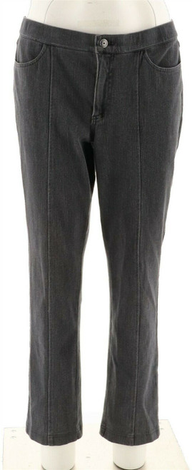 Isaac Mizrahi Petite Knit Denim Slim Leg Jeans NEW A293949