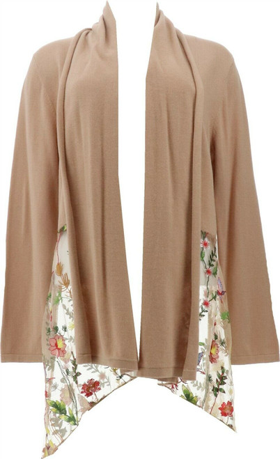 Jamie Gries Embroidered Mesh Draped Cardigan NEW 643-003