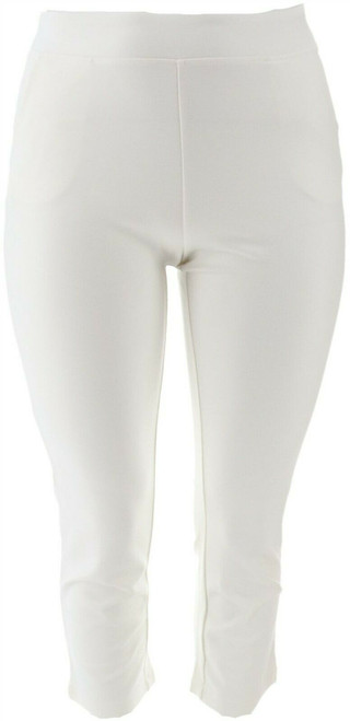Belle Kim Gravel Smoothing Ponte Knit Pull-On Pants NEW A350459