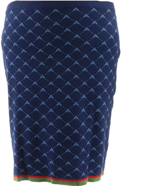 Antthony Spectator Collection Knit Jacquard Skirt NEW 677-319