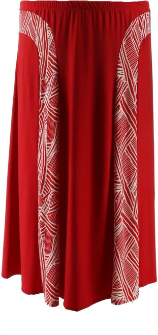 Antthony Smooth Sports Contrast Panel A-Line Skirt NEW 638-394