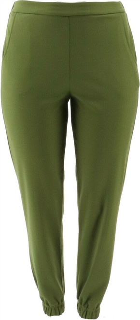 Slinky Brand Luxe Crepe Jogger Pant Pockets NEW 676-112
