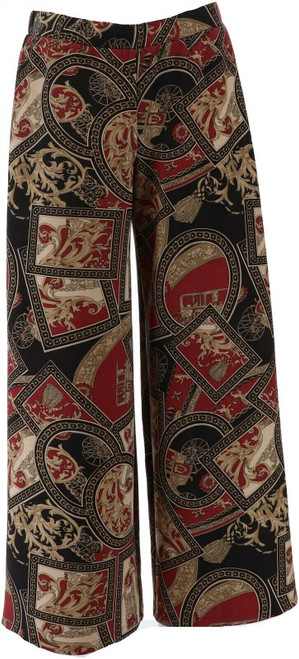 Slinky® Brand Printed Faux Suede Palazzo Pant NEW 678-701