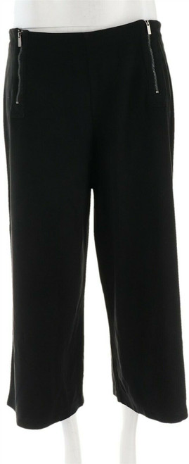 Lisa Rinna Collection Faux Suede Culottes Zipper NEW A278943