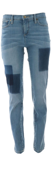Isaac Mizrahi TRUE DENIM Removed Patch Jeans NEW A302211