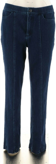 Isaac Mizrahi Knit Denim Slim Leg Jeans Pocket NEW A293948