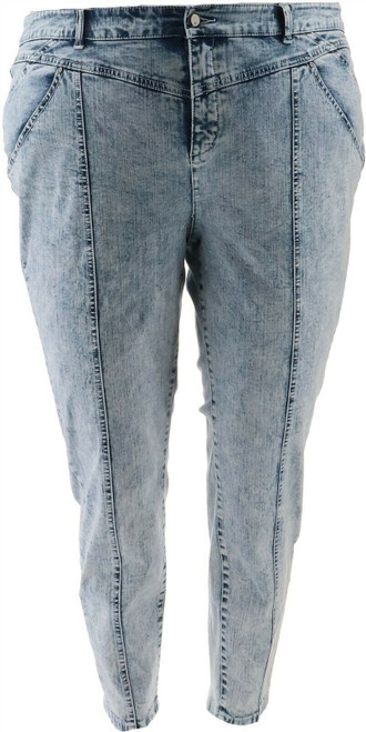 G Giuliana Black Label Acid Wash Ankle Jean NEW 682-482