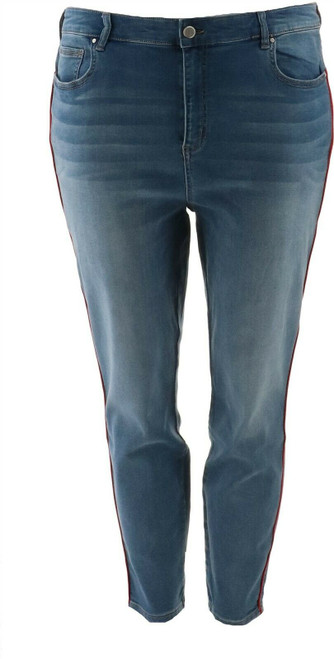 G Giuliana Skinny Ankle Twill Jean Piping NEW 692-795