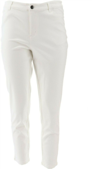 Motto Modern Stretch Sateen 5-Pocket Cropped Jean White NEW 648-930
