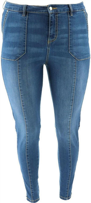 G Giuliana Downtown Denim Ankle-Zip Skinny Jean NEW 647-175