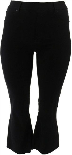 Spanx Black Wash Cropped Flare Jeans NEW A368928