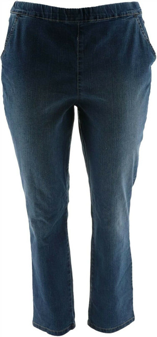 Denim & Co Modern PullOn Straight Leg Jeans NEW A299328