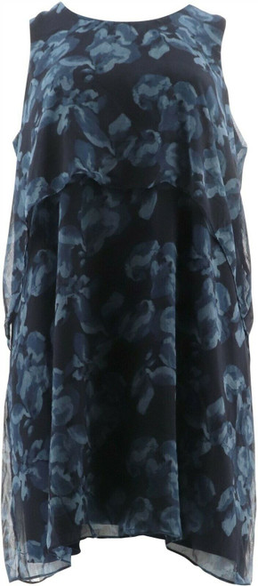 Halston Slvless Floral Printed Chiffon Dress NEW A288617