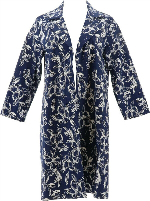 Slinky® Brand Printed Travel Stretch Trench Coat NEW 656-173