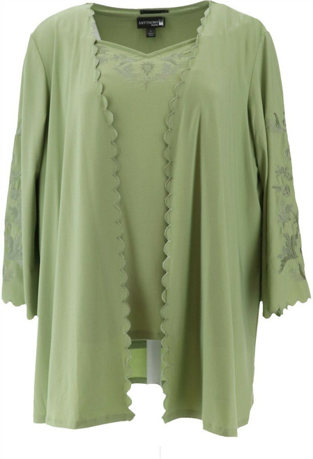 Antthony Lacey Days Embroidered Jacket Top Set NEW 643-903