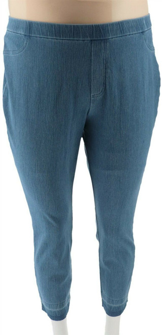 Isaac Mizrahi Petite Knit Denim Slim Leg Jeans NEW A311584
