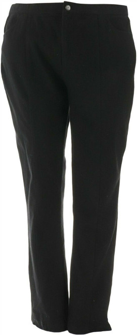 Isaac Mizrahi Tall Knit Denim Slim Leg Jeans Pocket NEW A293950
