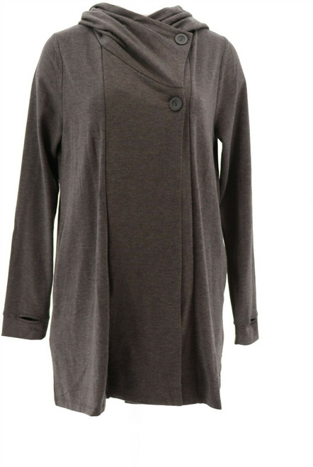 Soft Cozy Brushed Jersey Wrap Button Closure NEW 663-233