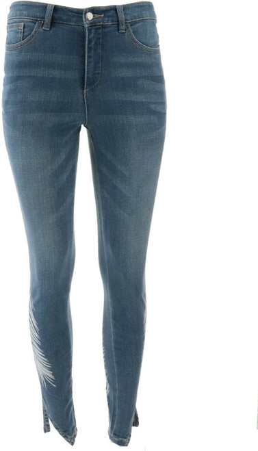 G Giuliana Downtown Denim Printed Skinny Jean NEW 651-359