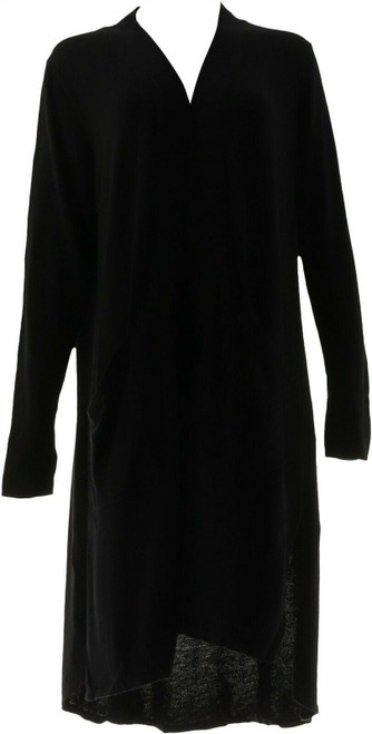 Halston Petite Open Front Hi-Low Duster Cardigan NEW A310426